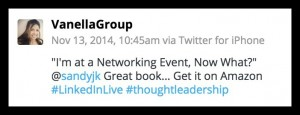 Vanella -Networking - great book tweet