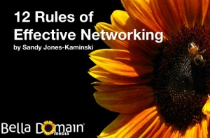 Sandy Jones-Kaminski presents 12 Rules of Effective Networking
