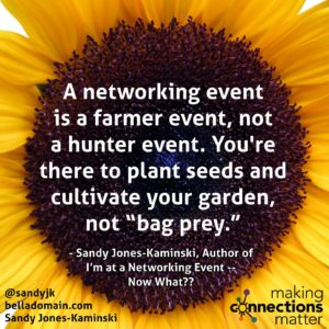 are you a farmer or a bagger of prey when networking?