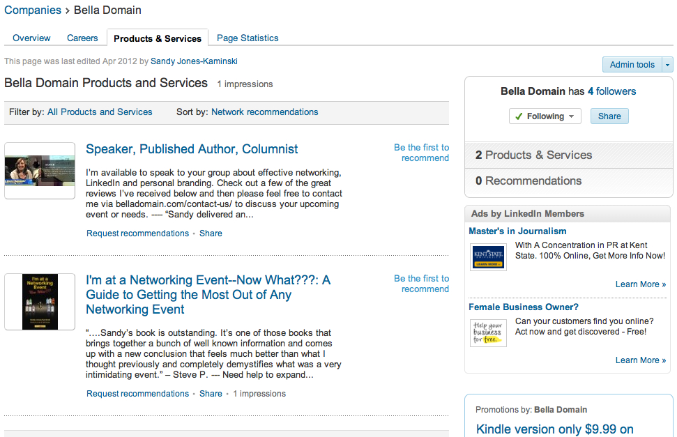 Bella Domain Media - LinkedIn Company Page