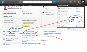 LinkedIn Settings to control invites