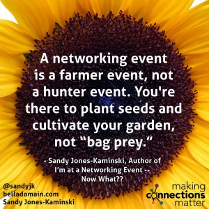 A Networking Event is a Farmer Event.....