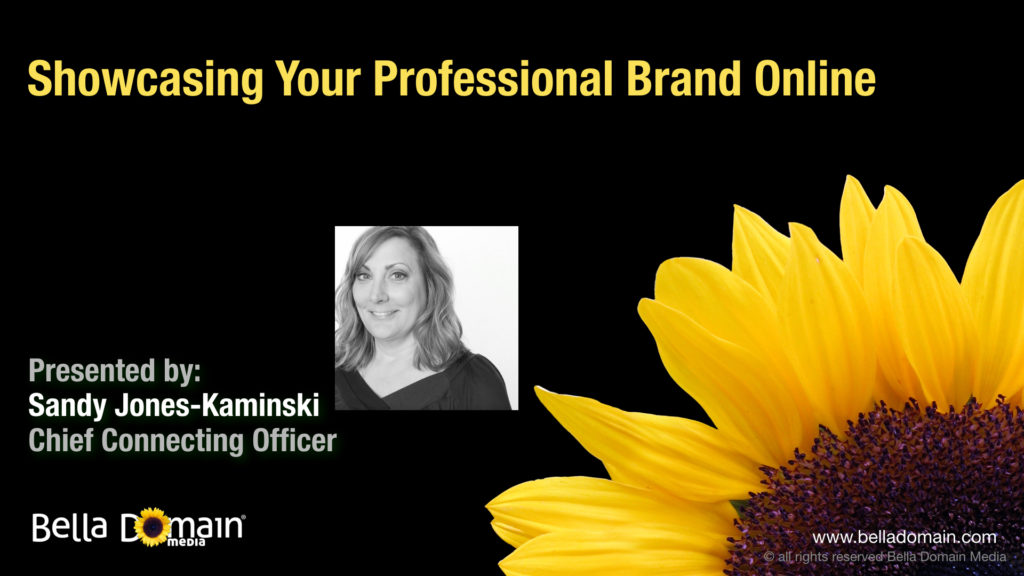 Showcasing Your Professional Brand Online