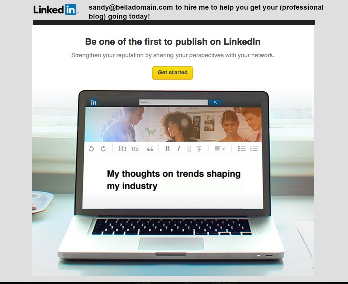 Publishing on LinkedIn is Blogging on LinkedIn