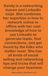 Maria Ross networking and LinkedIn testimonial