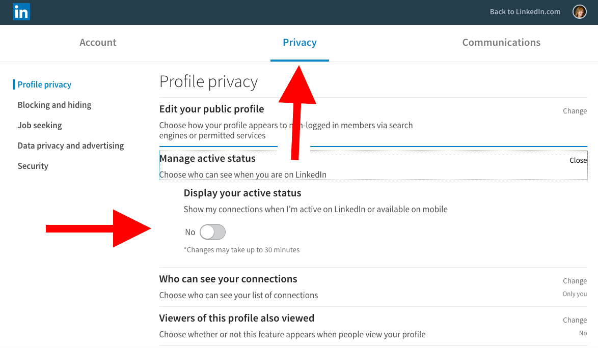 Minding your privacy on LinkedIn